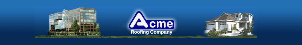 Acme Roofing Company Logo